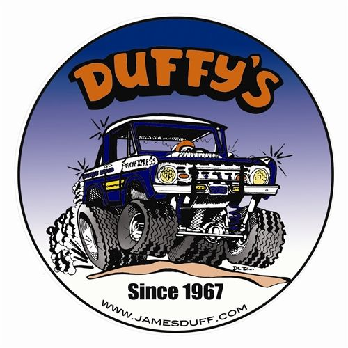 Duffy's Pony Express Retro Decal James Duff Vintage Bronco