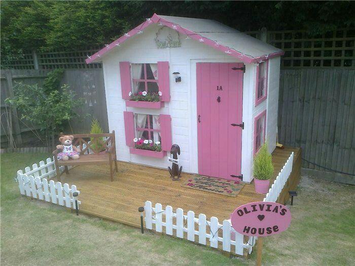 Lil pink house Garden Pinterest Casitas para niñas, Casitas y