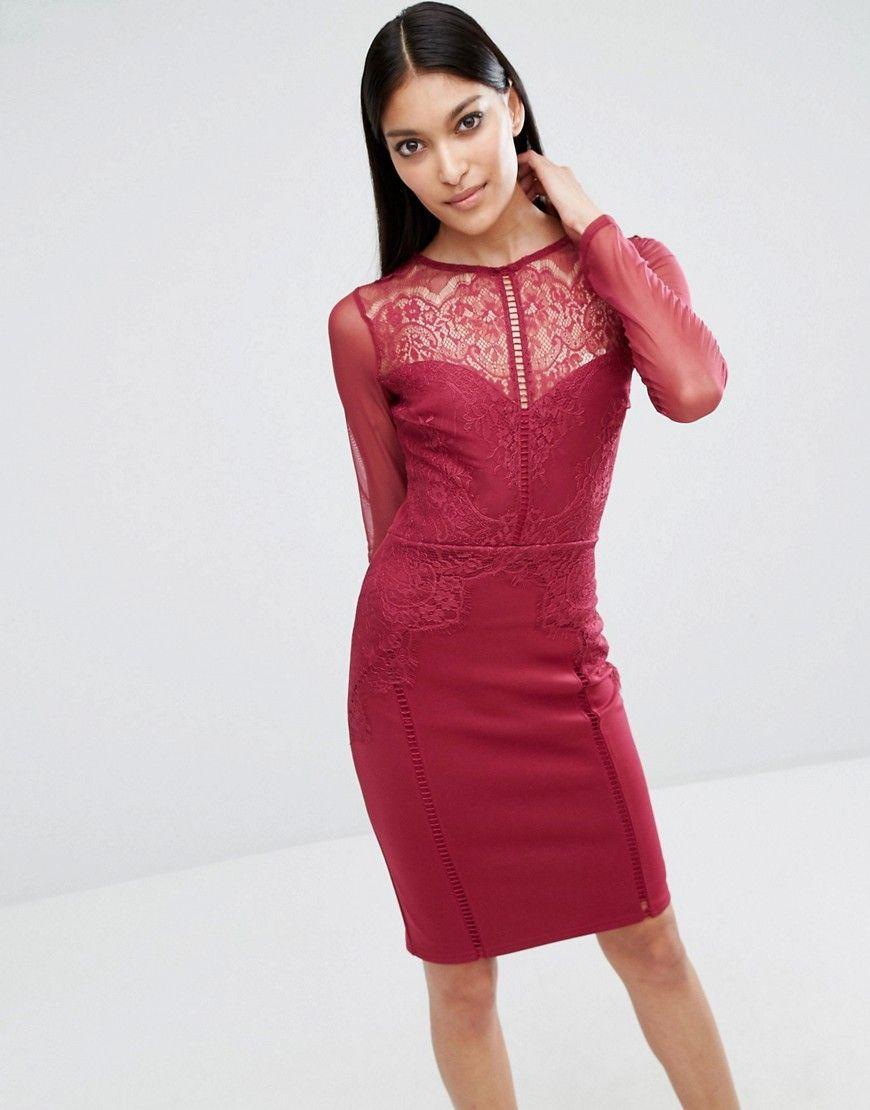 598c7afc24b 25 Beautiful Burgundy Wedding Guest Dress Ideas
