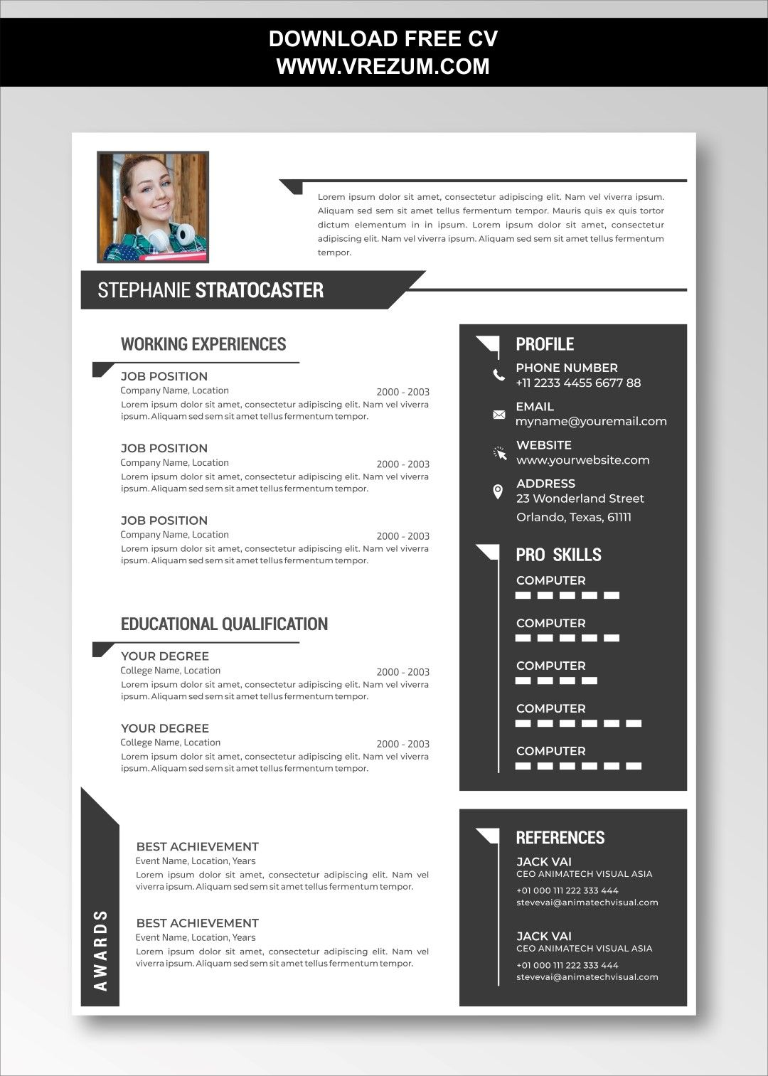 Editable Free Cv Templates For English Teacher Cv Template Free Teacher Cv Template Cv Template