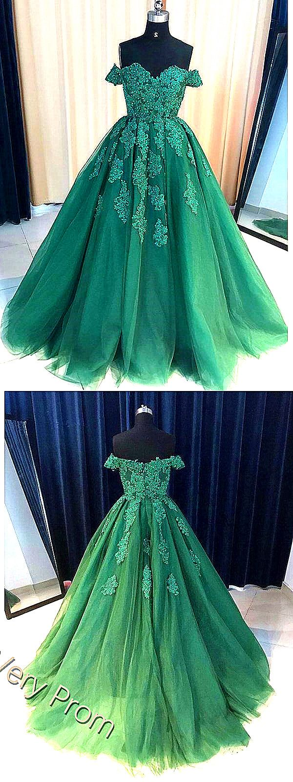 Fashionable sexy off shoulder emerald green lace a line long custom