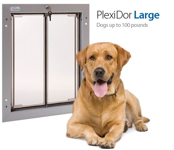 Plexidor Large Dog Door For Pets Up To 100 Pounds Dogs