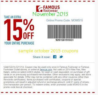 Free Printable Coupons Famous Footwear Coupons Promo Codes Online Free Printable Coupons Famous Footwear