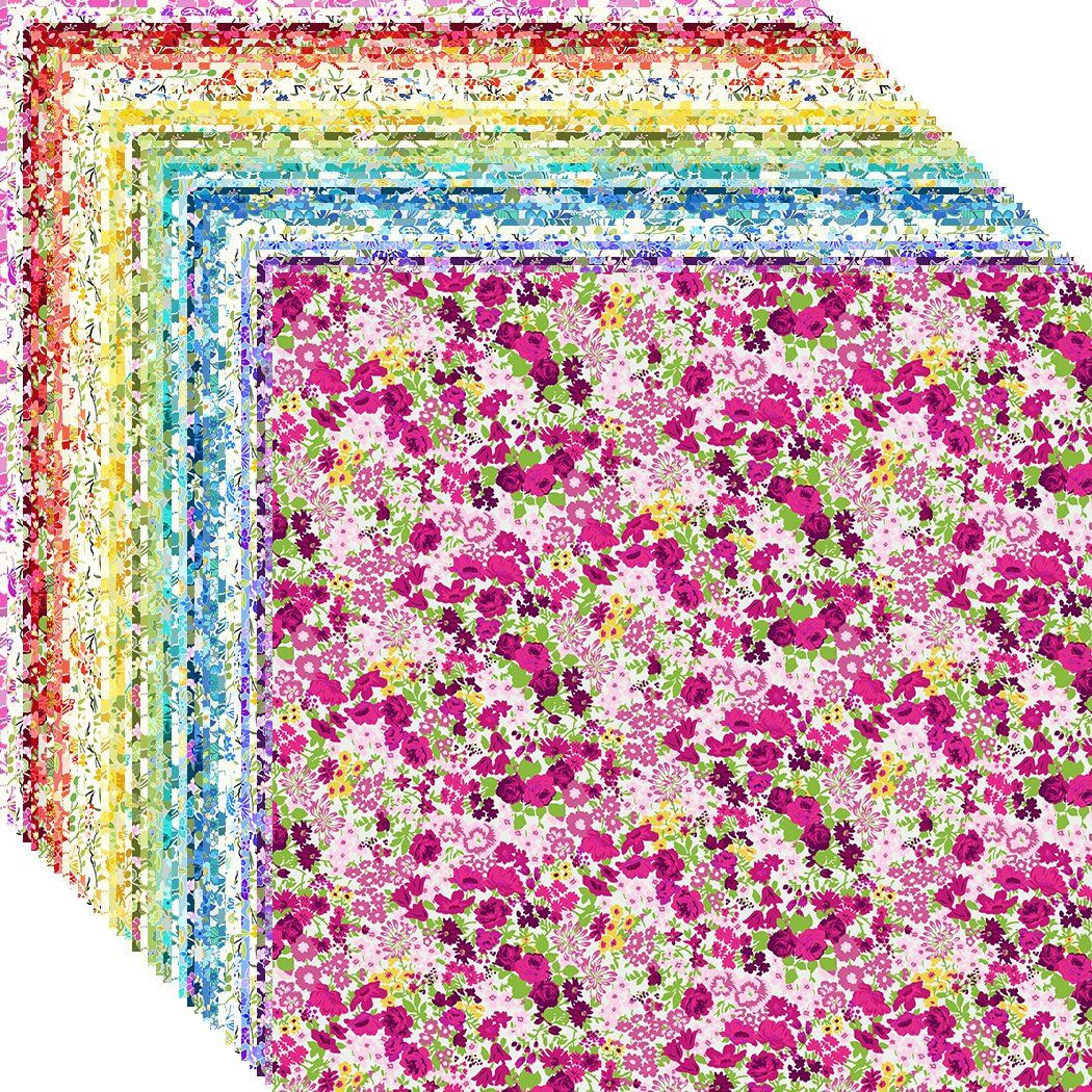 17 10 Layer Cake Beautiful Happy Quilt Fabric Squares