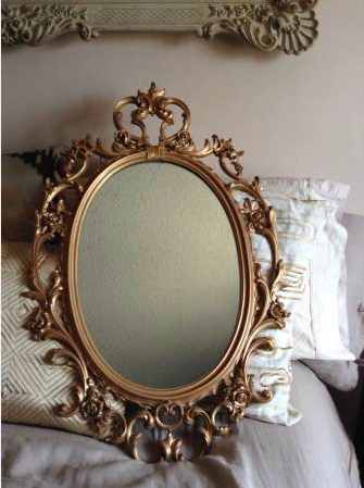 Vintage Syroco Mirror Vintage Inspired Jewelry Antique Mirror Wall Gold Aesthetic