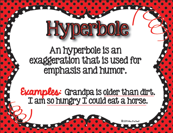 Fun Figurative Language posters for the classroom.  These posters feature Black, Red and White Polka Dots.  What fun :)