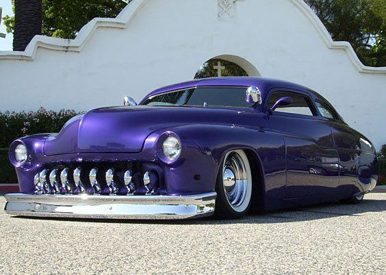 Among the custom car builders who are considered legendary for their body of work is Dick Dean. Here is a 1950 Slammed Mercury Lead Sled that was chopped 5 inches by Dean and then smoothed the way only he could.