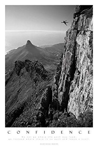 Posters motivational poster confidence table mountain south africa 36 x 24 inches click