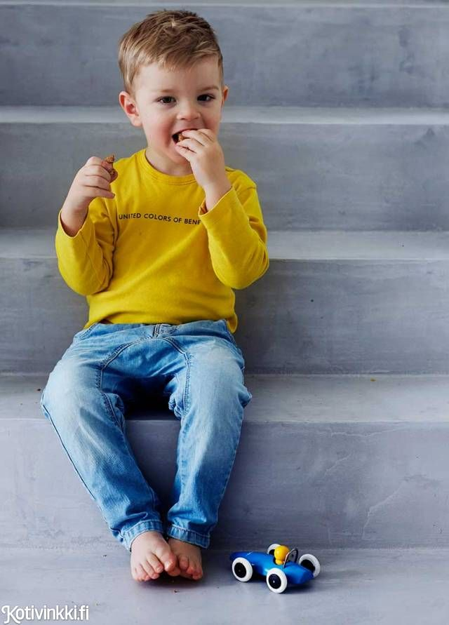 Trendikäs betoni - katso kuvat ja hämmästy kuinka trendikäs betoni sopii myös lapsiperheen kotiin.