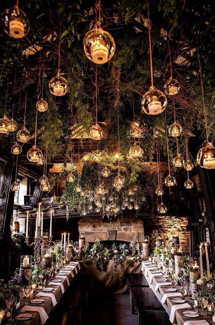Ideas of wedding decorations  Enchanted Forest Wedding Theme  venue  forest wedding decorations