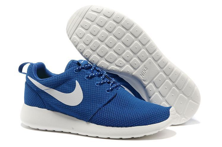 Nike Roshe Run Mens Blue White Mesh Shoes  c895108ee682