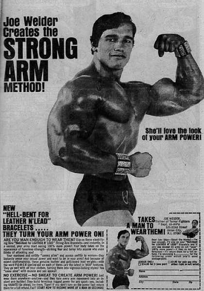 Funny how fitness ads used to be so heavy on the copy A smile - fresh arnold blueprint training review