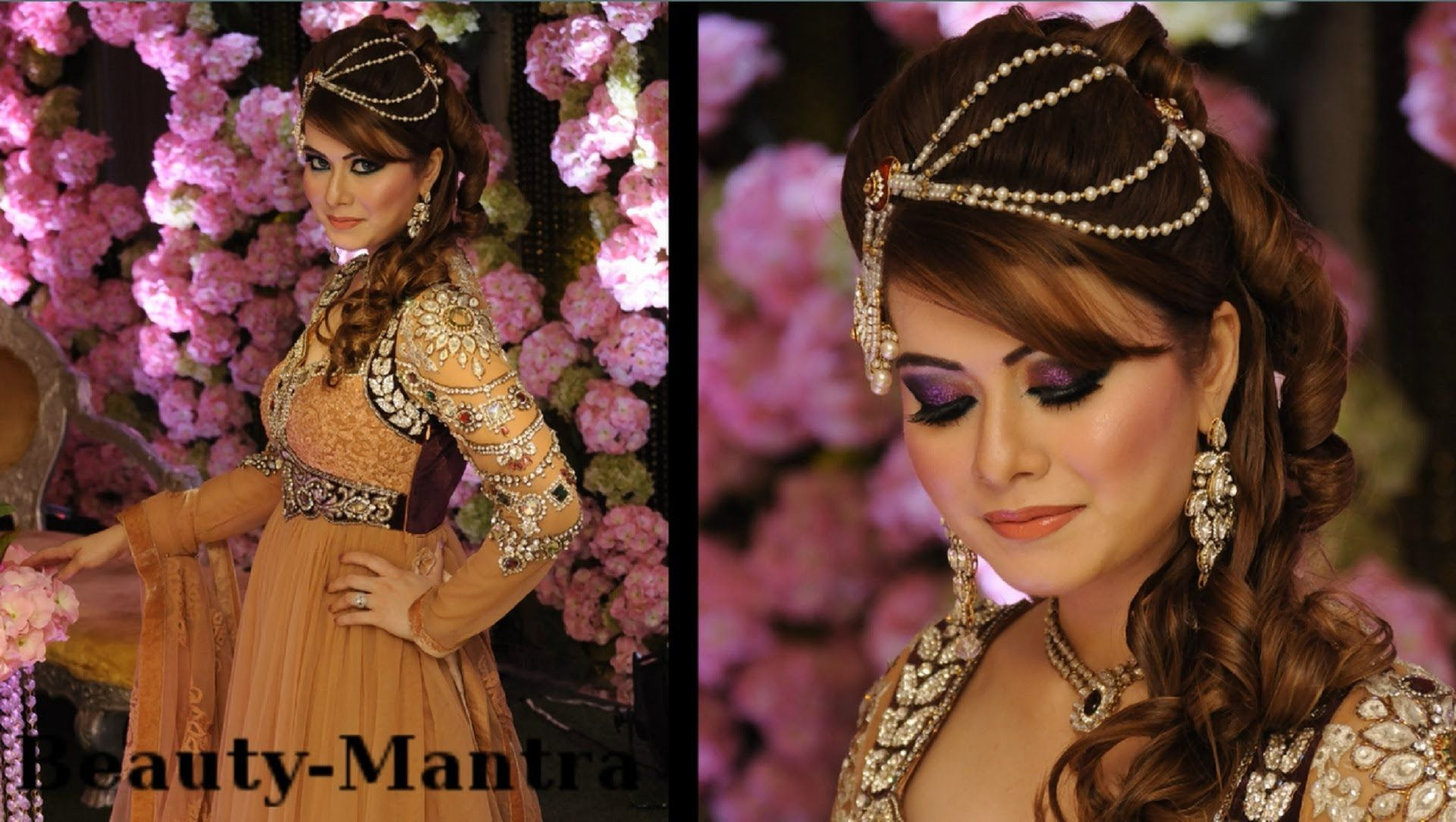 wedding makeup - arabic look with indian touch - complete hair and