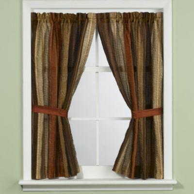 Sierra Copper Bathroom Window Curtain Panel Pair By Manor Hill