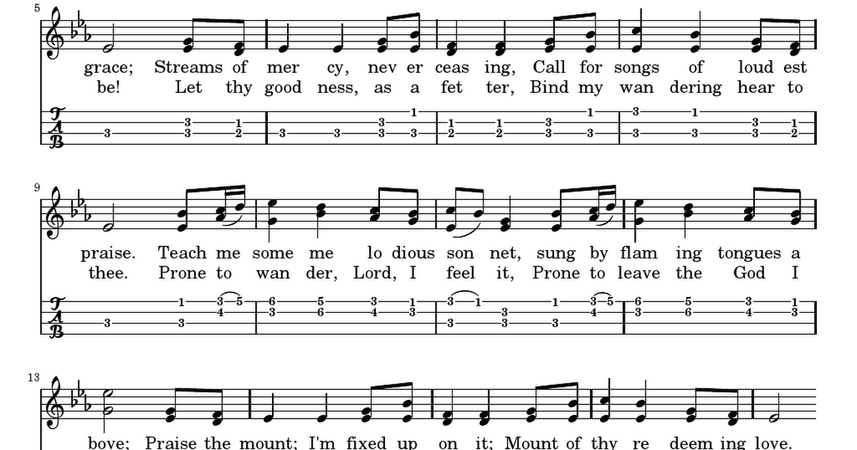 Come thou fount of every blessing.pdf | ukulele | Pinterest | Blessings