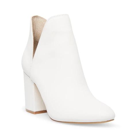 white ankle boots steve madden