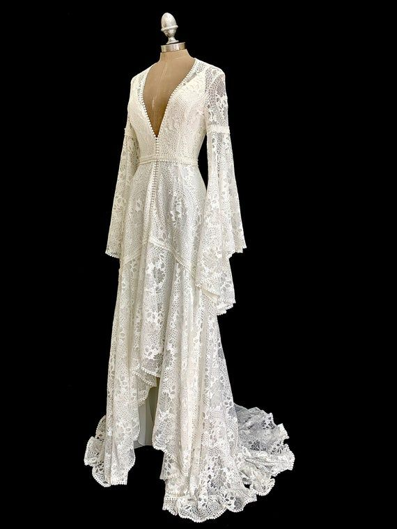 wedding dresses, bride robe wedding dress kimono, lace wedding dress, boho kimono,  boho wedding dress, kaftan wedding dress 7