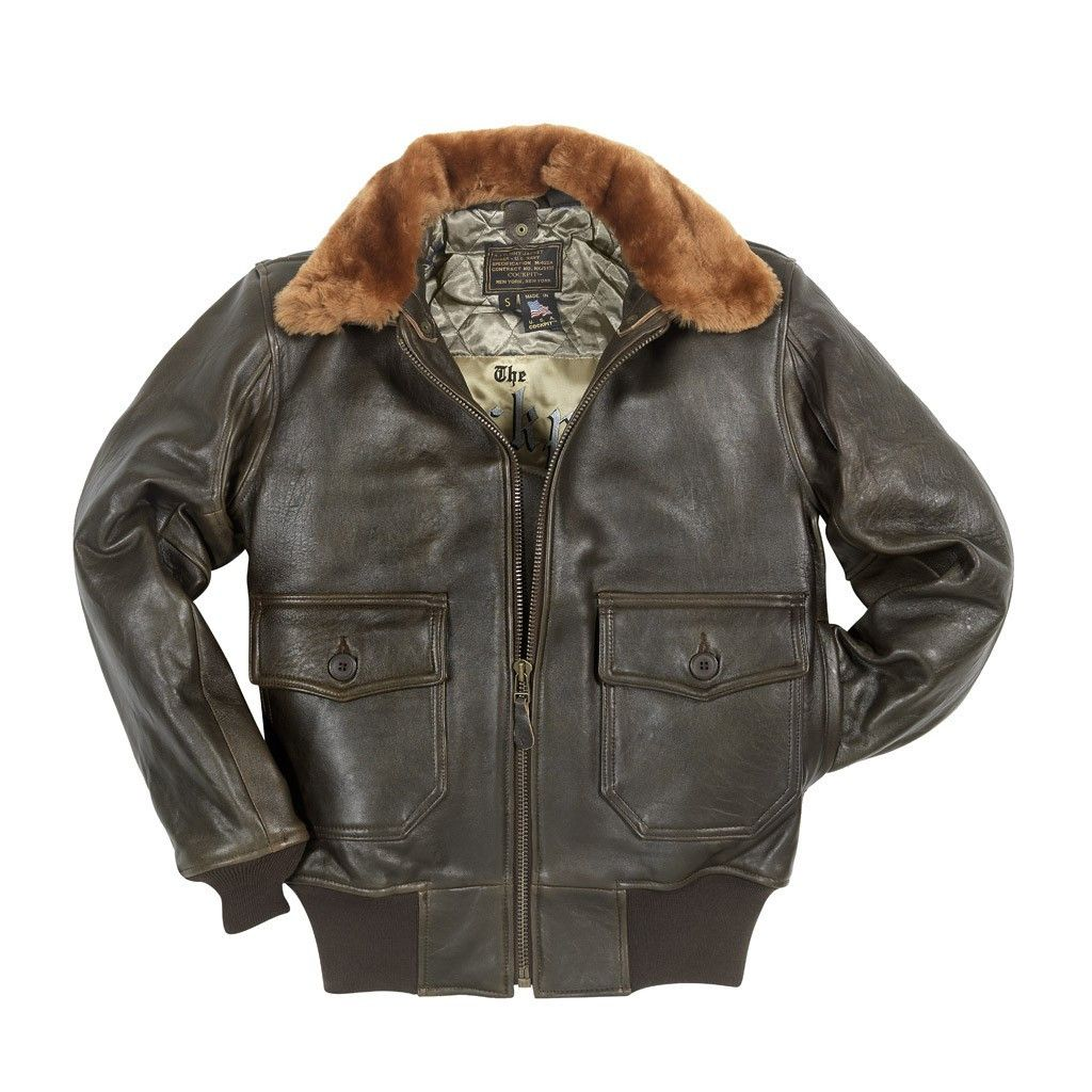 9e28b68a887 U.S. Navy Lambskin G-1 Flight Jacket - Brown