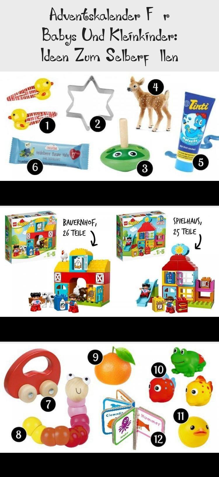 Adventskalender für Babys und Kleinkinder: Ideen zum Selberfüllen #Stauraumide…