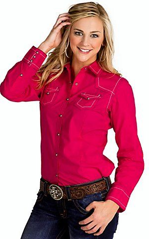 Ariat Pink Women's Shirt Hayden Western Sleeve Long Clash wqw4xdEr