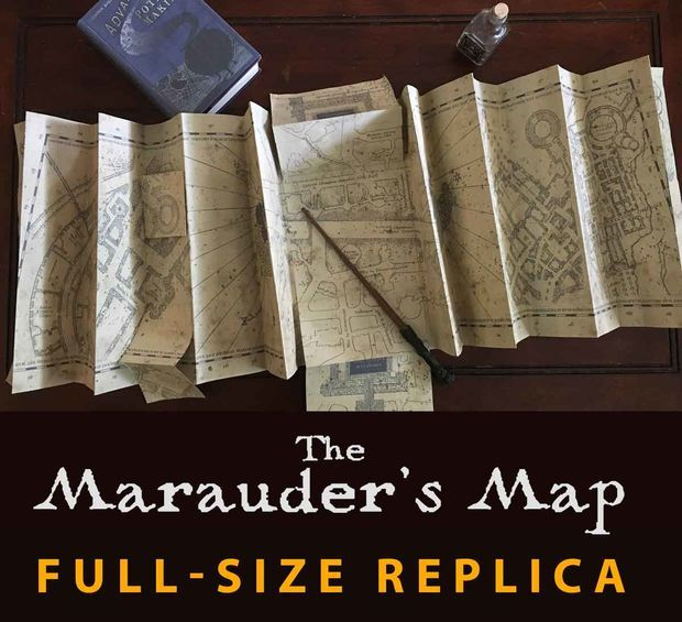 Frugal Harri Potter Marauders Map Mini Version Collectible Retro Parchment Map New Cosplay Props Costumes & Accessories Costume Props