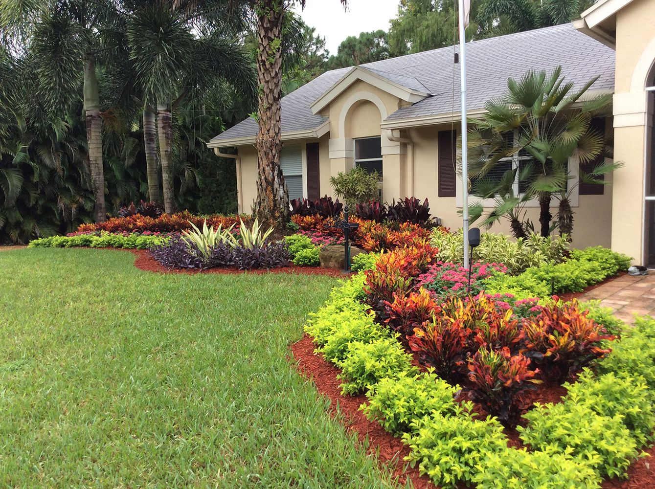Colorful Curb Appeal Designed By Pamela Crawford In Palm