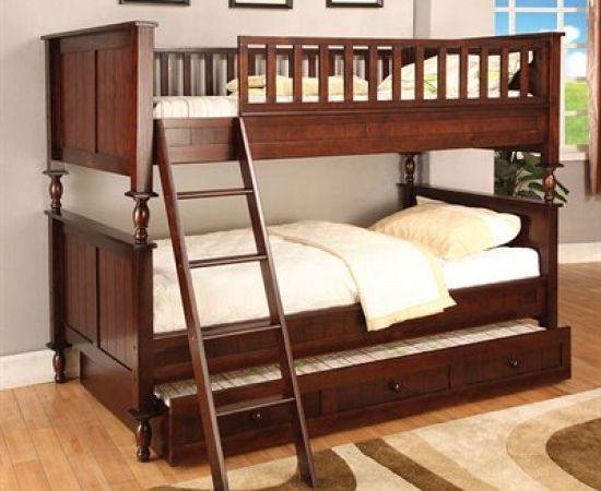 Like The 3rd Pull Out Bed For When They Have Sleep Overs Wood Bunk Beds Furniture Of America Bunk Beds