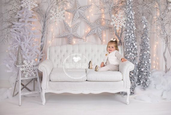 Instant DownloadBaby Toddler Child Photography Prop Digital Backdrop for Photographers - CHRISTMAS WINTER WONDERLAND Sofa Digital Backdrop