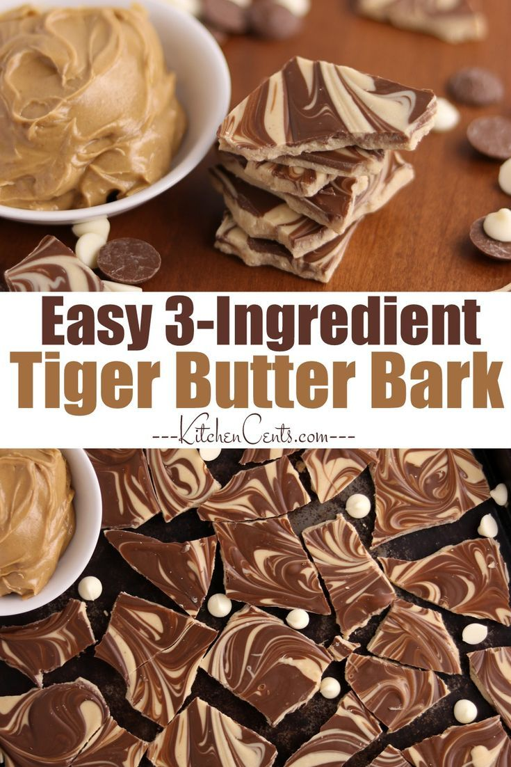Easy Tiger Butter Bark – peanut butter chocolate candy – Kitchen Cents