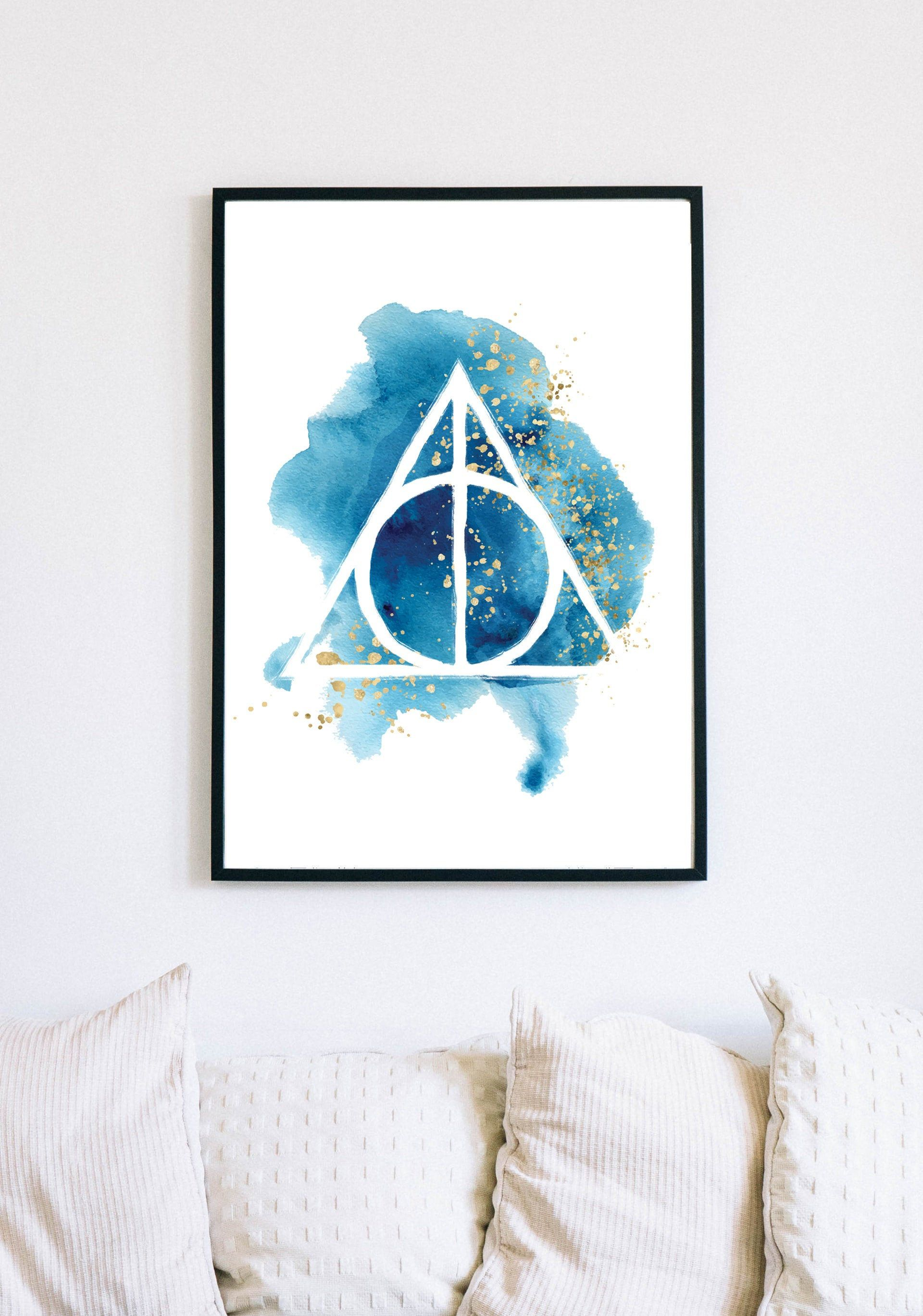 Gift Idea Premium Matte Poster Adult /& Kids Room Watercolor Hallows