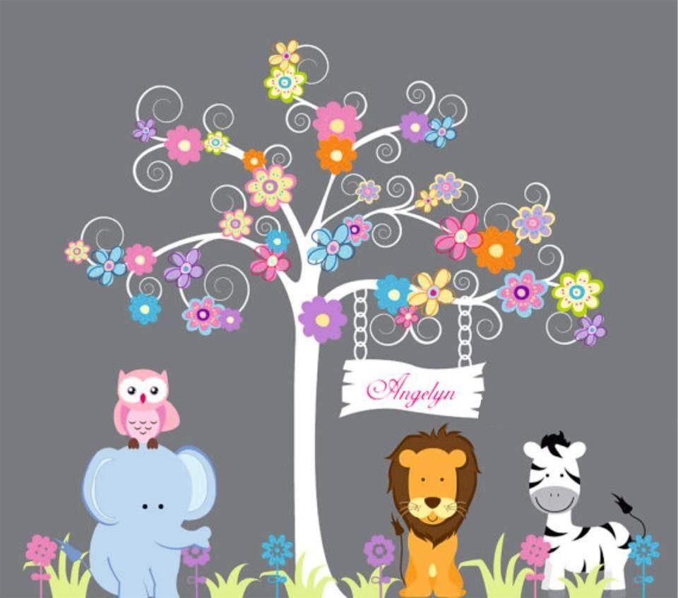 Deco cris vinilos decorativos infantiles entra y mira for Vinilos infantiles nina