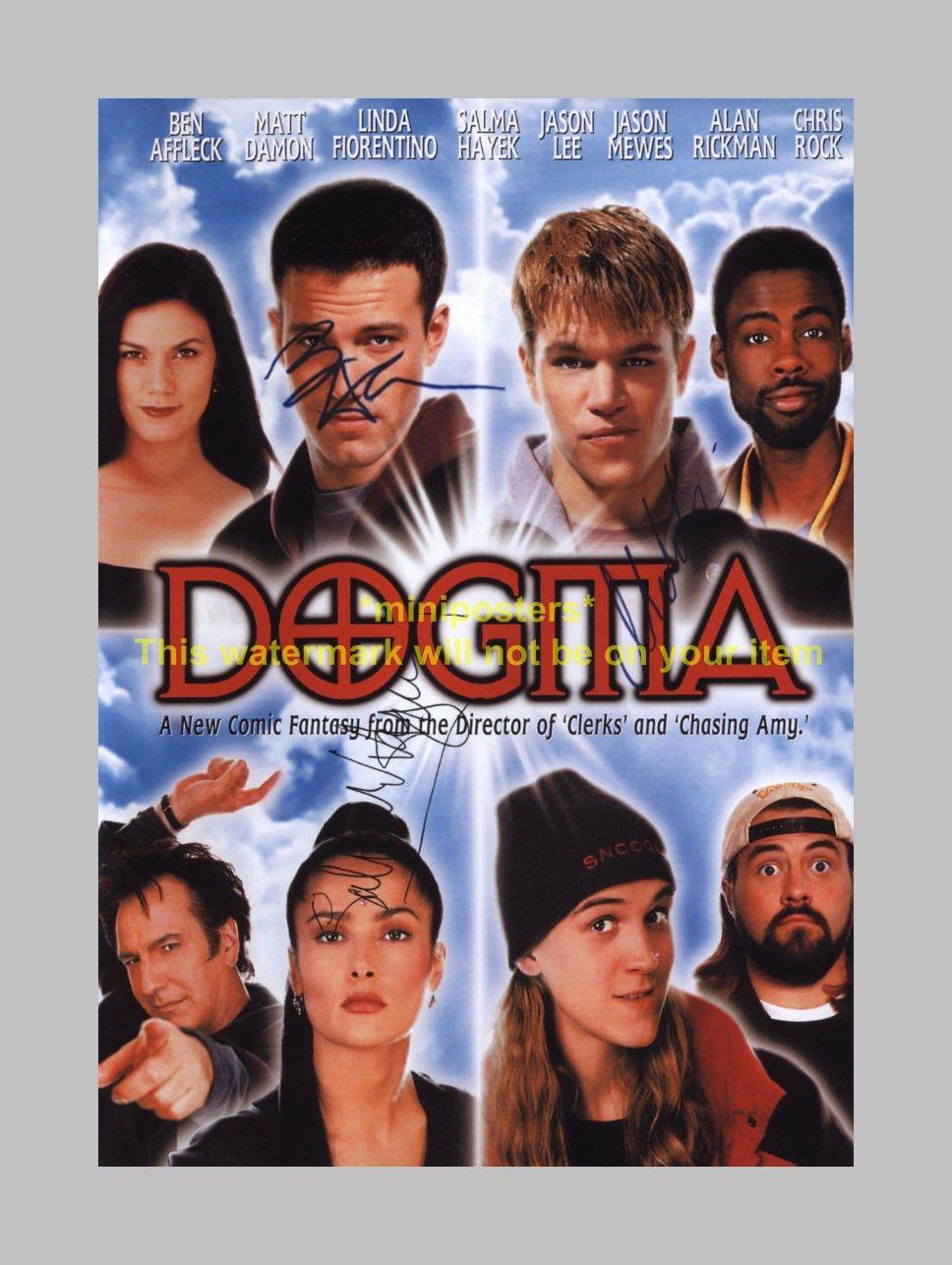 449 Gbp Dogma Cast X3 Pp Signed Poster 12x8 Damon Affleck Ebay