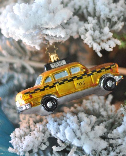 taxi cab ornament
