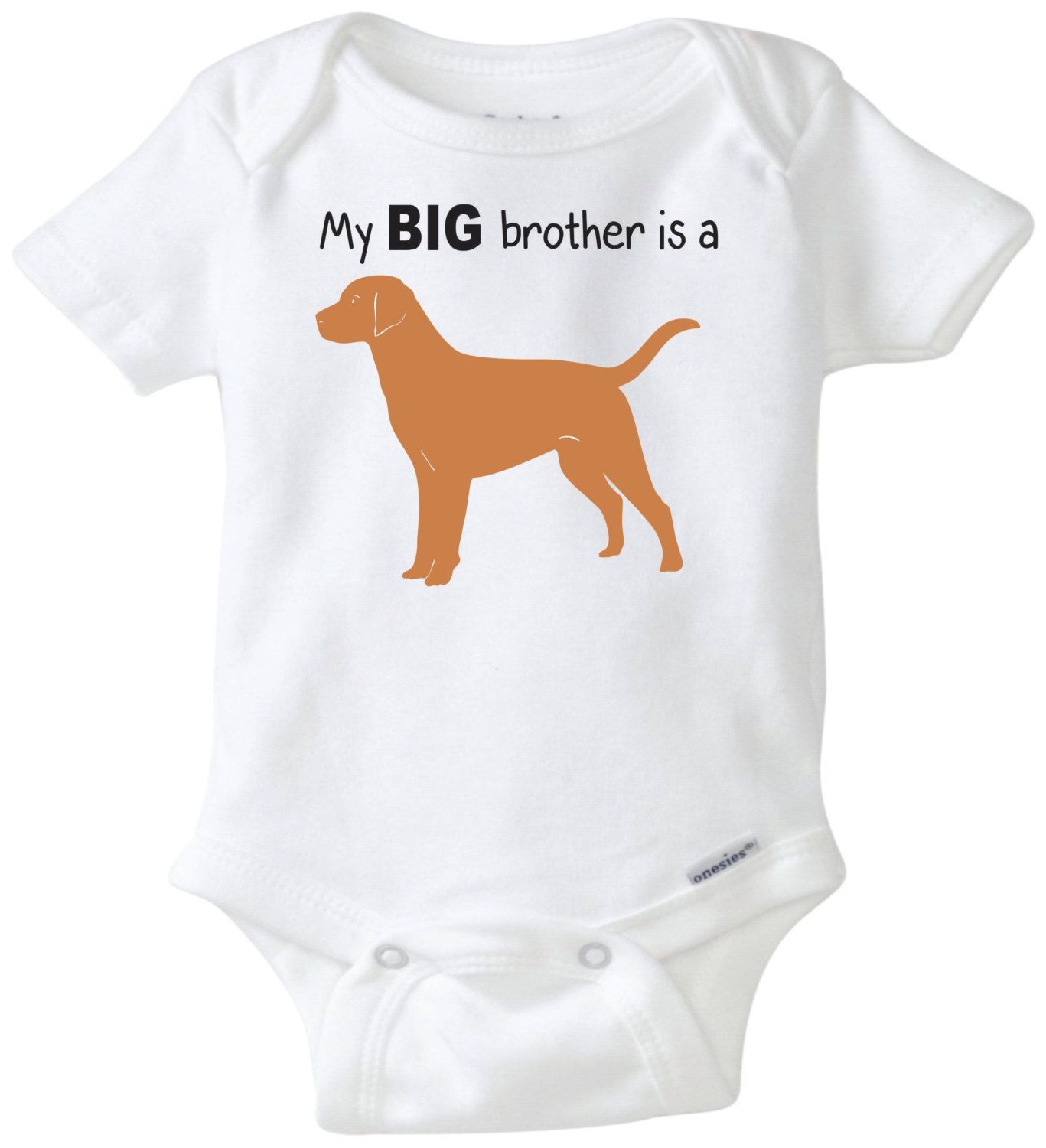My Big brother is a Golden Lab baby onesie personalized sibling