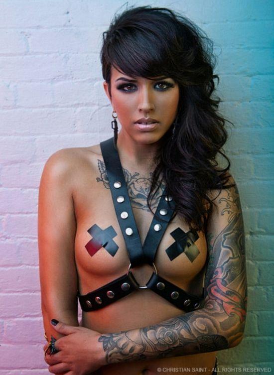 #bondage #s #tattoos #piercing #leather #inkedgirls #bodymodification  #bodycandy