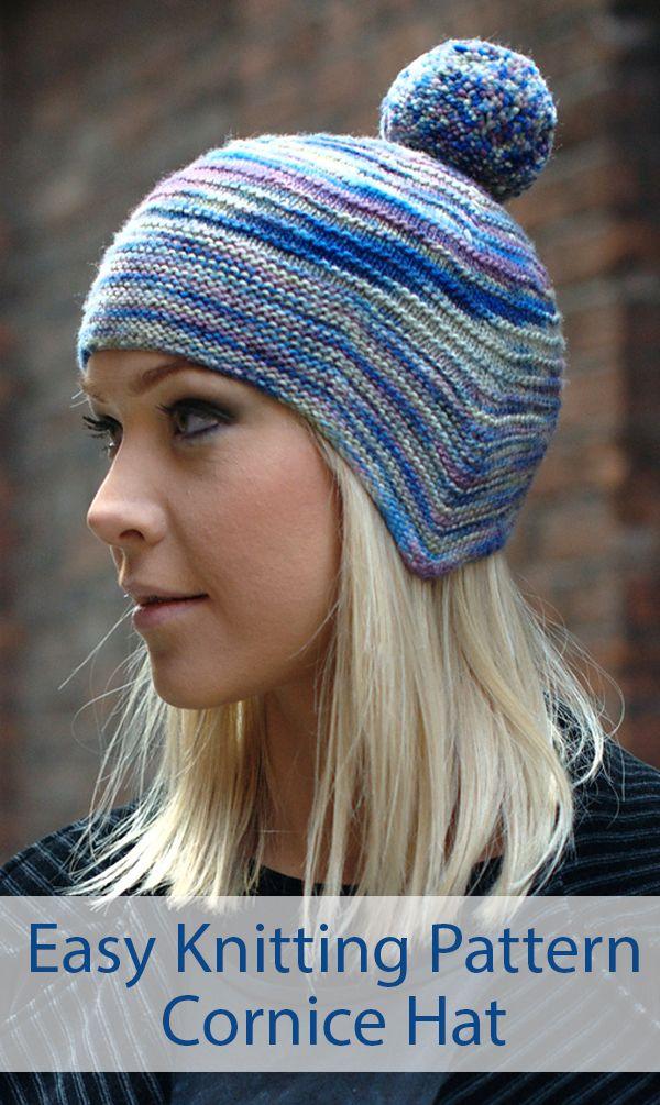 Knitting Pattern for Easy Cornice Earflap Hat - Easier ...