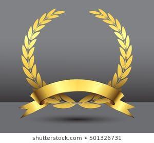 Photo of Imagens, fotos stock e vetores similares de rasterized greece column and gold laurel wreath illustration. bitmap of vector version. see for vector version in my portfolio – 144786886