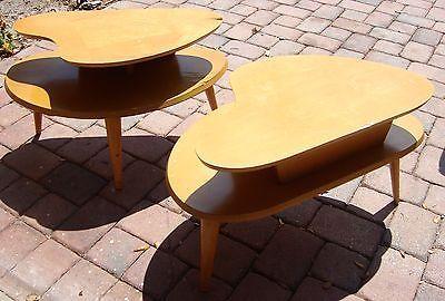 Atomic Coffee Tables Vintage Retro Kidney Shaped Two Tier Coffee Table Vintage Coffee Table Table
