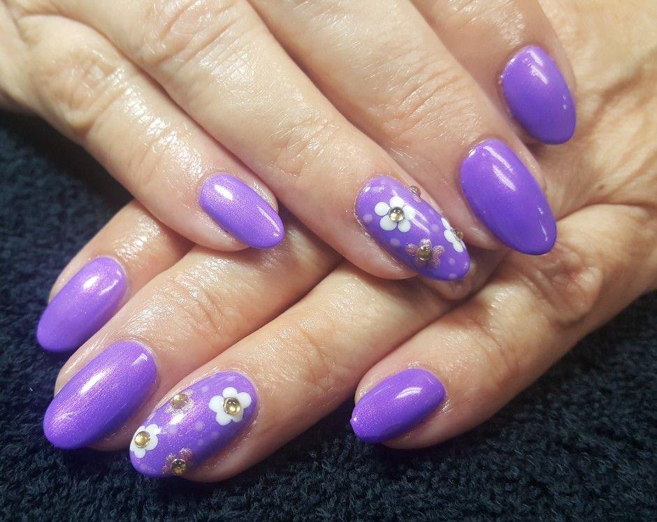 Cnd Shellac Nail Art By Gossamer Nail Studio Purple Violet