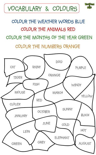 colours in english exercises anglais pinterest more english exercises english and french. Black Bedroom Furniture Sets. Home Design Ideas