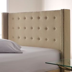 Great headboard with nailheads from QVC Nate Berkus $449 King