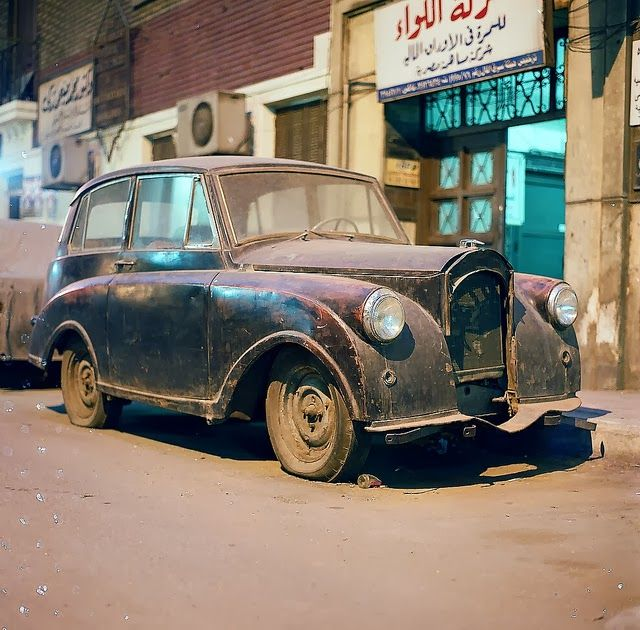 Shooting Film: Street Scenes in Cairo, Egypt. Image: Triumph Mayflower, Cairo Egypt. by Luca Di Lotti