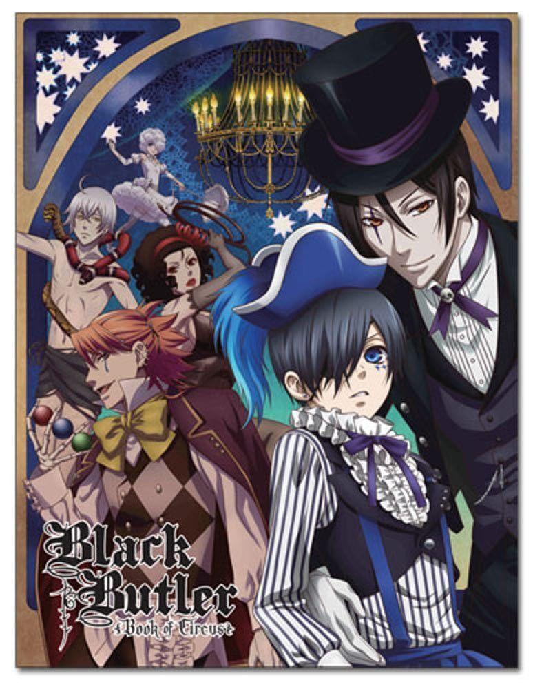 Black Butler Ciel & Sebastian Book of Circus Throw Blanket