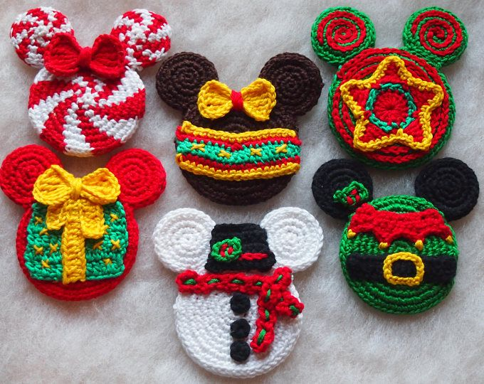 Mickey Mouse Minnie Mouse crochet pattern, Christmas Elf, Christmas ...