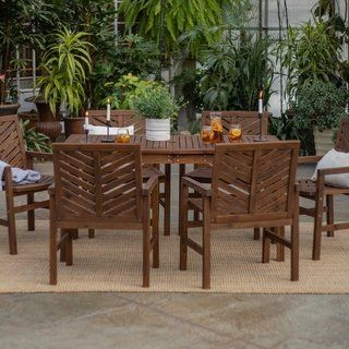 Admirable Havenside Home Elephant Point 7 Piece Outdoor Chevron Dining Unemploymentrelief Wooden Chair Designs For Living Room Unemploymentrelieforg