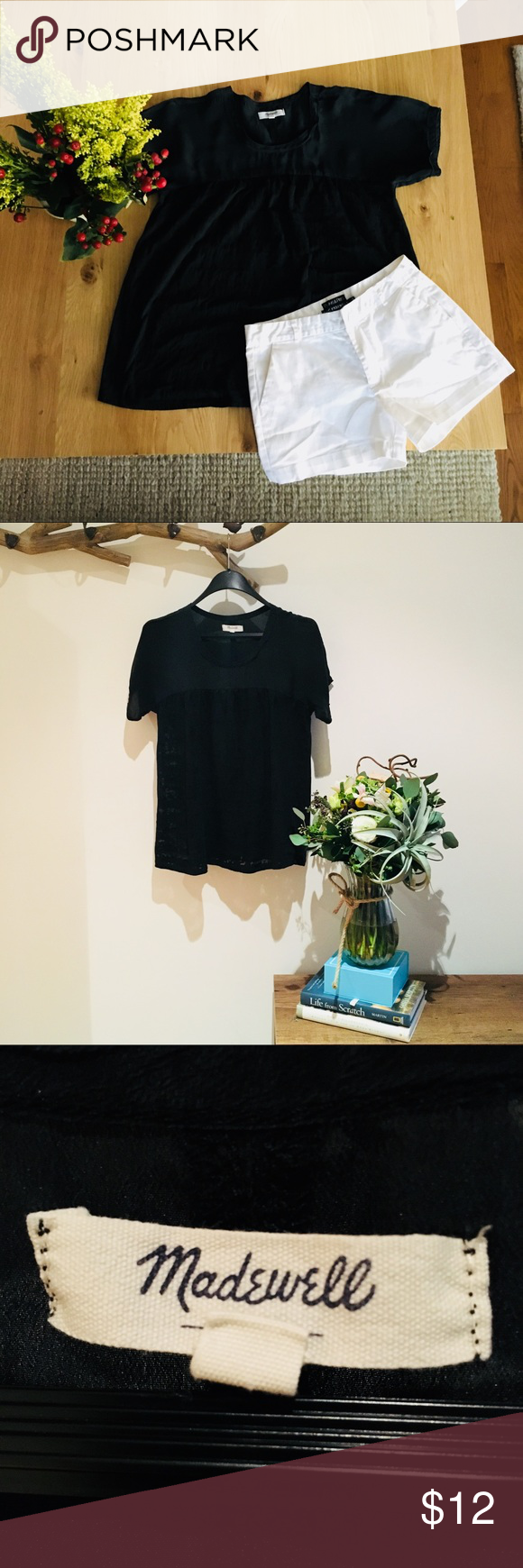 🔥Sale🔥Black Top from Madewell Comfortable and cute too from Madewell. Madewell Tops Tees - Short Sleeve