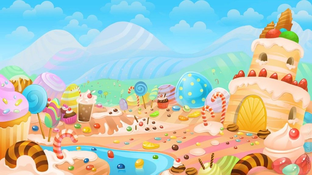 Background Sweet Candy Land Wallpaper Cake Cake In 2018