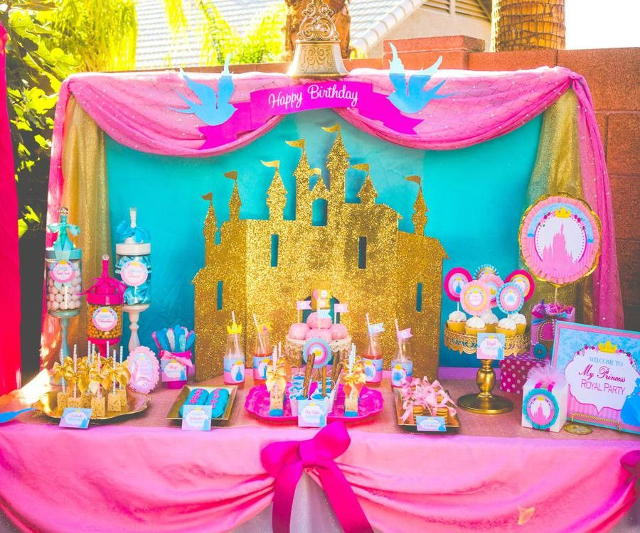 Pink princess party signs girls birthday party pink printables instant download - Princess party wall decorations ...