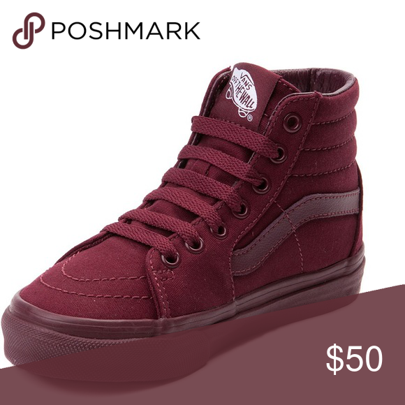 526ca2315abe High top maroon vans