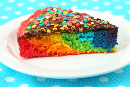 Regenbogenkuchen Vom Blech Regenbogenkuchen Rezept Rainbow Cake
